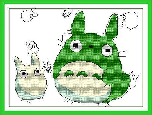 Happy Forever Cross Stitch Cartoon, my neighbor totoro 4