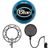 Blue Microphones Snowball (Electric Blue) - Shockmount and Pop Filter Bundle