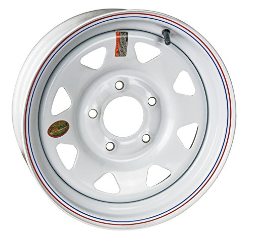 (Arcwheel White Spoke Steel Trailer Wheel - 15