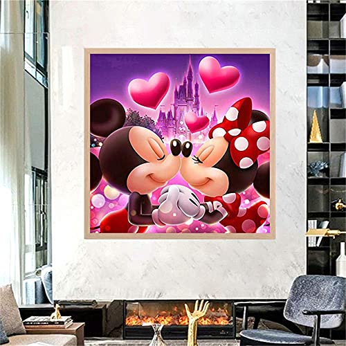 Diamond Painting Kits for Adults 5D DIY Full Drill Crystal Rhinestone Embroidery Cross Stitch Arts Craft Canvas Wall Decor Two Cute Mice(11.8inX11.8in)