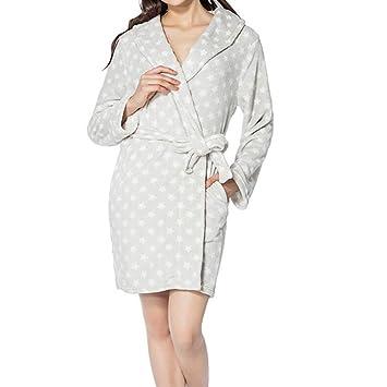 Amazon.com: Bathrobe Ladies Luxury Bath Robe Dressing Gown Wrap ...