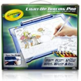 Crayola; Light-up Tracing Pad; Blue; Art Tool; Bright LEDs; Easy Tracing with 1 Pencil, 12 Colored Pencils, 10 Blank Sheets, 10 Tracing Sheets