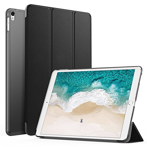 MoKo Case Fit iPad Pro 12.9 2017/2015 - Slim Lightweight Smart Shell Stand Cover with Translucent Frosted Back Protector Fit Apple iPad Pro 12.9 Inch 2017&2015, Black (with Auto Wake/Sleep)