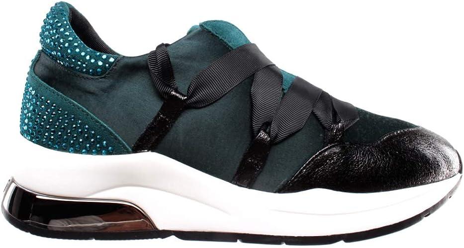 Consejo Masaje jazz  Liu Jo Women's Shoes Sneakers Karlie 03 Satin Strass Teal Green Black Verde  New: Amazon.co.uk: Shoes & Bags