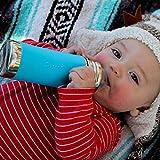 Pura Kiki 11 oz / 325 ml Stainless Steel Anti-Colic Infant Bottle with Silicone Medium-Flow Nipple & Sleeve, Slate