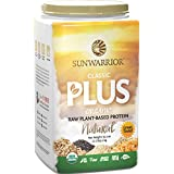 Sunwarrior - Classic Plus, Raw Organic Plant Based Protein, Natural, 40 Servings (2.2 lbs)