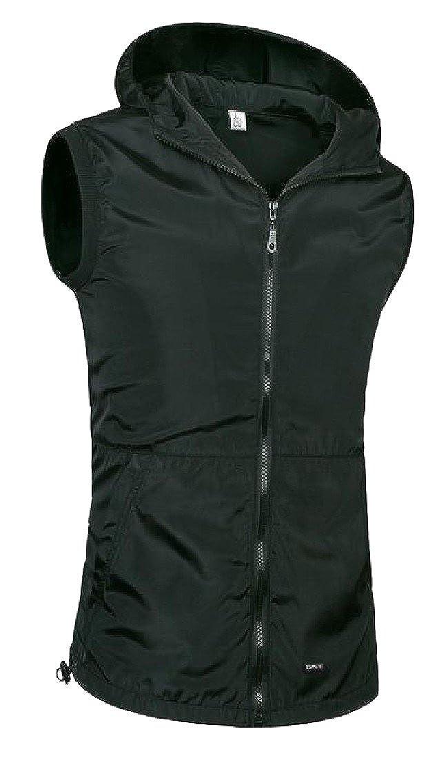 Winwinus Mens Plus Size Western Hooded Athletic Stretchy Waistcoat