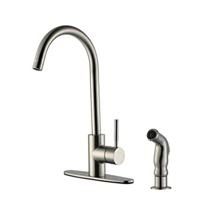 design house kitchen faucets. Design House 545715 Springport Kitchen Faucet With Side Sprayer  Satin Nickel