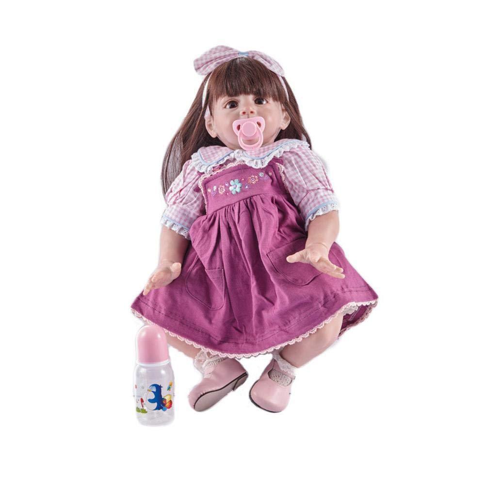 solo para ti Hongge Reborn Baby Doll,Realismo Renacimiento bebé muñeca Silicona Gel Completo Completo Completo Renacida muñeca Juguete Regalo 58cm  envío rápido en todo el mundo