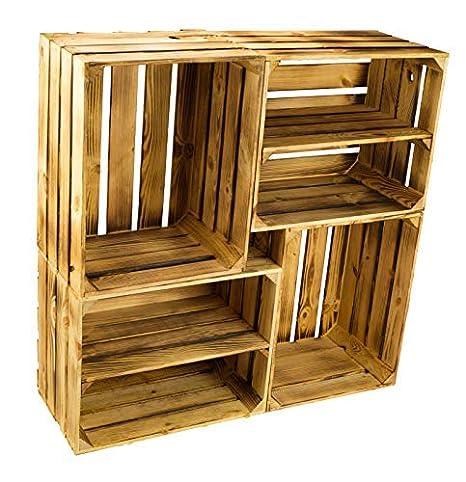 Kit de 4 Sólido Caja de Fruta Cajón de Manzana Caja de Vino de la región