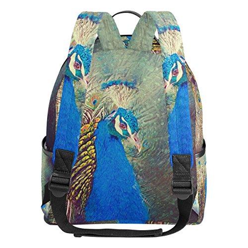 Coosun Peacock Malerei leichte Leinwand Kinder Schule Rucksack Buch Tasche für Jungen Mädchen vReKO3s