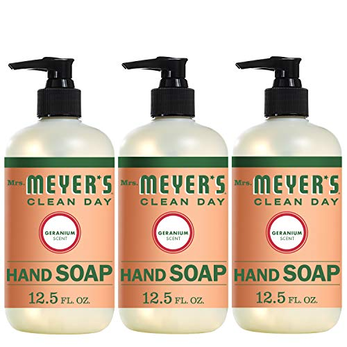 Mrs. Meyer´s Clean Day Hand Soap, Geranium, 12.5 fl oz, 3 ct