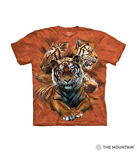 The Mountain Resting Tiger Coll Child T-Shirt, Orange, Large