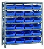 Quantum Storage Systems 1839-108BL Shelf and Bin Unit, 18'' D x 36'' W x 39'' H, Blue