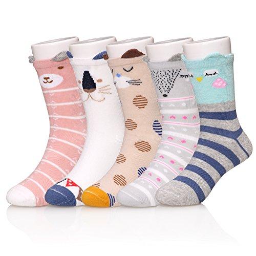 SDBING Children's Cartoon Novelty Socks Cotton Cute 3D Animal Socks for Girl Boy S(3-5 Year)