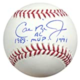 "CAL RIPKEN JR. AUTOGRAPHED OFFICIAL MLB BASEBALL BALTIMORE ORIOLES ""1983 AL MVP 1991"" PSA/DNA STOCK #22191"