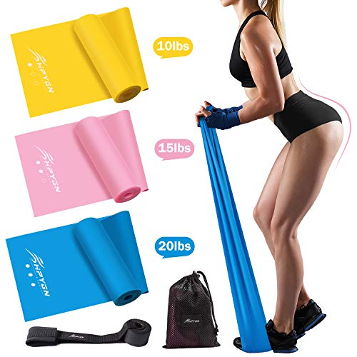 HPYGN Resistance Bands Set, Exercise Bands for Physical Therapy, Strength Training, Yoga, Pilates, Stretching, Non-Latex Elastic Band With Different Strengths,Workout Bands with Door Anchor