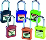 Safety Lockout Safety Padlocks sign Rainbow Pack 6 pack mixed colours by UK Safety Signs