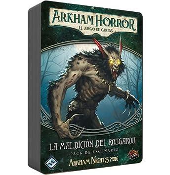 Fantasy Flight Games- Arkham Horror La Maldición del Rougarou - Español, Color (FFIAHC09)