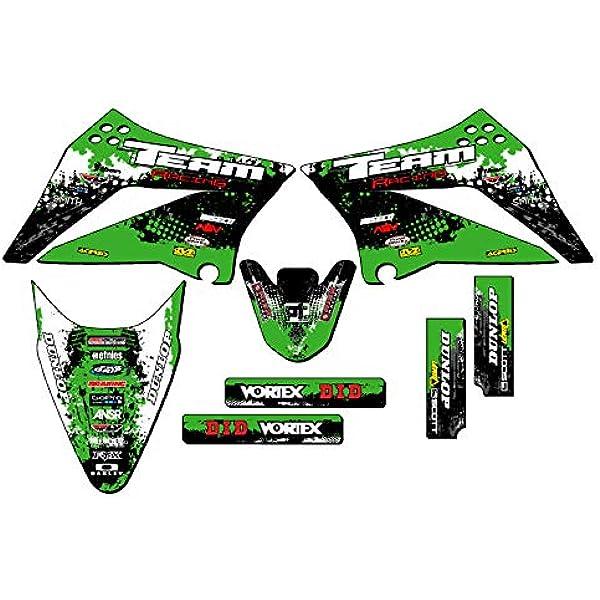 Team Racing Graphics kit compatible with Kawasaki 1997-2008 KLX 300 ANALOG Complete Kit