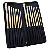 16-Piece Artist Brush Set - Zippered Case