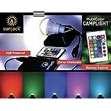 SunJack CampLight - USB LED Bulb - Bright 340 Lumens - Camping, Hiking, Backpacking, Outdoors, Emergency