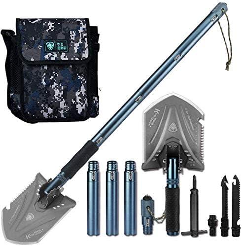 折りたたみシャベルプロフェッショナル屋外生存TacticalShovelガーデンキャンプ用品陸軍ツール lzpff