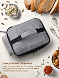 """Personal Portable Oven for Prepared Meals Reheat, Mumba 48W Electric Slow Cooker Food Warmer Oven for Car, Business Travel, Camping, Truckers, Office Desk, Up to 8.75""""W x 6.75""""L x 2.5""""H Container Applicable"""