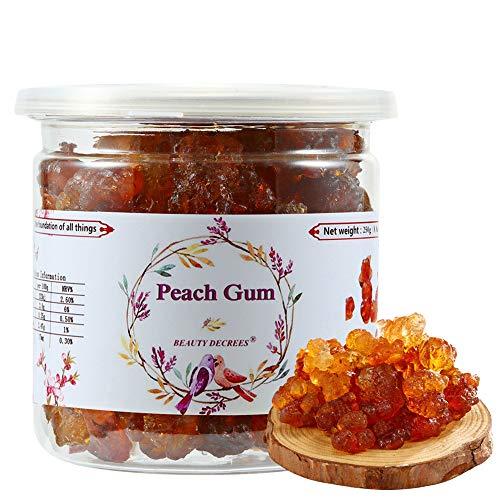 Beauty Decrees Yunnan Natural Wild Peach Gum Edible Peach Blossom Tears 桃胶Sealed canned 250g / 8.8oz ()