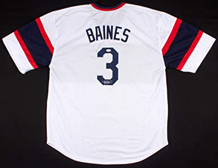 on sale c20a5 8f5d8 Harold Baines Autographed Signed Chicago White Sox Throwback ...