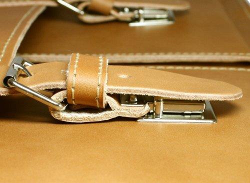 DELARA serviette en cuir spacieux, bandoulière et épaulette inclus - Fabriqué en Allemagne