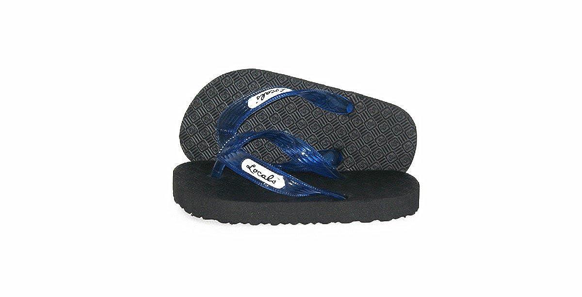 Locals Kids Black with Blue Strap Slipper