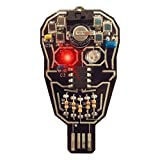 Lumen Electronic Jewelry Intermediate Soldering kit, Solar powered LED Skull