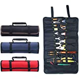 Hense Large Wrench Roll Up Tool Roll Pouch Bag Big Tote Carrier Organizer Easy Storage & Portable Best for Craftwork…