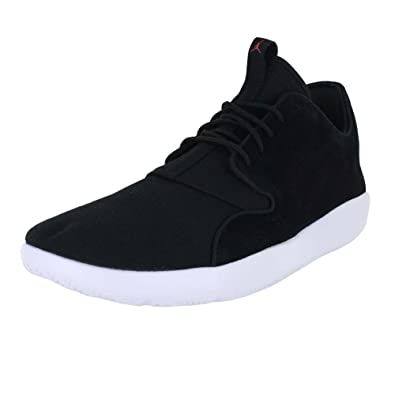 ac24aba9f Jordan Mens Eclipse Leather Black Gym RED White Size 10.5