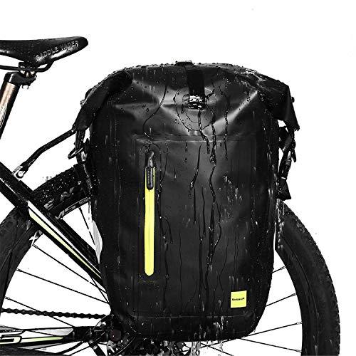 Rhinowalk Bike Bag Waterproof Bike Pannier Bag,(for Bicycle Cargo Rack Saddle Bag Shoulder Bag Laptop Pannier Rack…