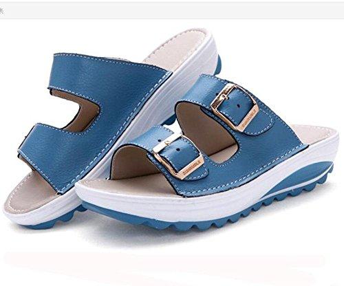 KUKI Dicke Hausschuhe mit coolen Sandalen mit flachen Hausschuhen 4