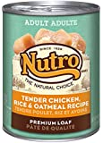 NUTRO Adult Tender Chicken, Rice and Oatmeal Premium Loaf Canned Dog Food, 12.5 oz. (Pack of 12)