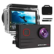 [2021 New]Apexcam 4K EIS 20MP WiFi Pro Action Camera 170° Wide-Angle Ultra HD Sports Camera External Mic Waterproof…