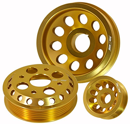 Performance Anodized Gold Aluminum Engine Pulley Wheel Kit For Nissan 350Z/Infiniti G35