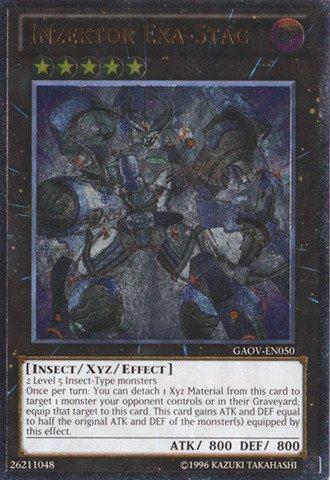 Yu Gi Oh    Inzektor Exa Stag  Gaov En050    Galactic Overlord   1St Edition   Ultimate Rare