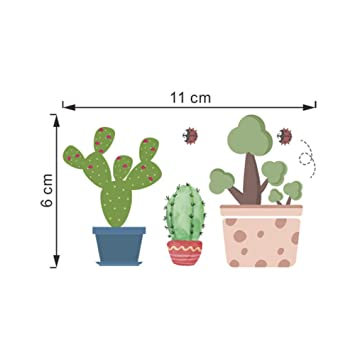 1 Unids Cartoon Cactus Bonsai Planta Flor Interruptor Pegatinas de ...