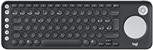 Logitech K600 Teclado con Touchpad y Mando de Dirección para TV y PC, Teclas Multimedia, Multi-Dispositivos, Select Samsung, LG and Sony TVs/Windows/Mac/Android, Disposición QWERTY Español - Negro