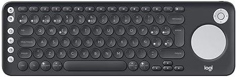 Logitech K600 Teclado con Touchpad y Mando de Dirección para TV y PC, Teclas Multimedia, Multi-Dispositivos, Select Samsung, LG and Sony TVs/Windows/Mac/Android, Disposición QWERTY Español - Negro: Logitech: Amazon.es: Informática
