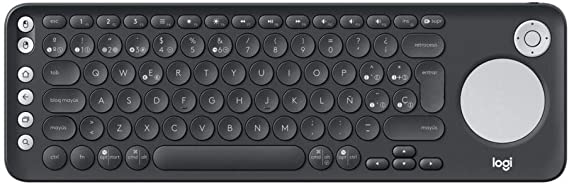 Logitech K600 Teclado con Touchpad y Mando de Dirección para TV y PC, Teclas Multimedia, Multi-Dispositivos, Select Samsung, LG and Sony TVs/Windows/Mac/Android, Disposición QWERTY Español - Negro: Logitech: Amazon.es: Informática