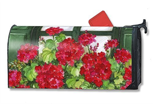 Magnet Works Window Box Geraniums Large Mailwrap #21270