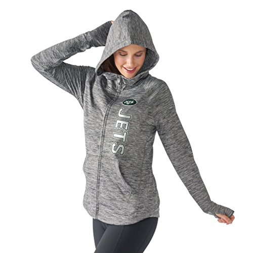 Women's G-III 4Her by Carl Banks NFL Convalescence Full Zip Up Hoodie (Small, New York Jets)