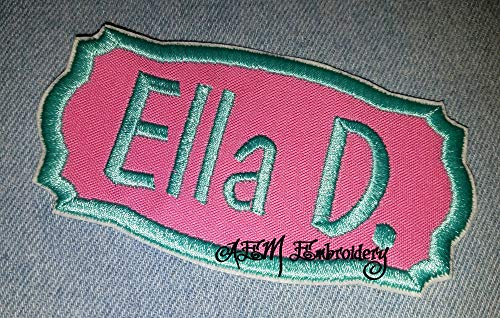 Applique Name patch in Bubblegum Pink Medium ()