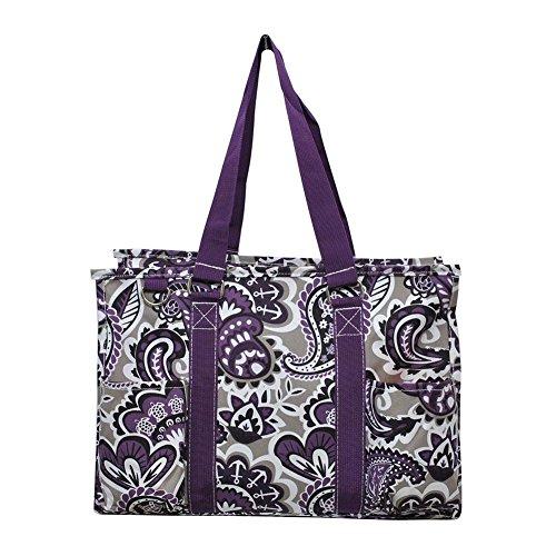 NGIL All Purpose Organizer Medium Utility Tote Bag 2018 Spring Collection (Purple Paisley Park) by NGIL