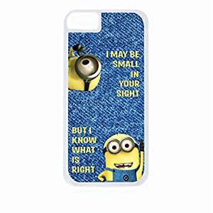 I May Be Small In Your Sight But I Know What is Right - Hard White Plastic Snap - On Case-Apple Iphone 5C Only - Great Quality!